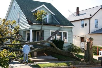 Storm damage to roof in Frankfort by A1 Roofing & Home Improvement
